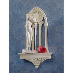 "18.5"" Classic Statuary Architectural Cathedral Arch Sculptural Wall Shelf - 2..."