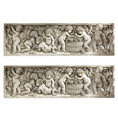 "6.5"" Classic Italian Putti Wine Harvest Wall Sculpture Statue Figurine Decor ..."