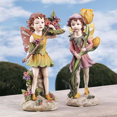 Classic Collectible Fairies of the Meadow Home Garden Statues Gift for Kids and Fairy Lovers