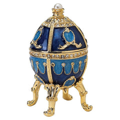 Luxury Collectible Russian Faberge-Style Enameled Egg