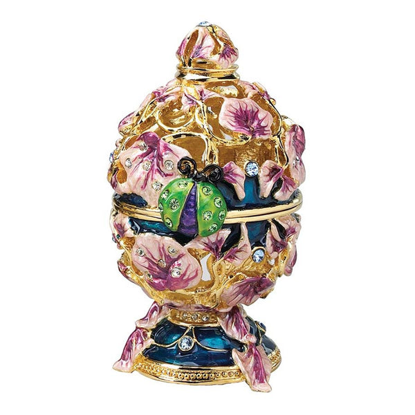 Royal Russian Garden Faberge-style Collectible Enameled Egg