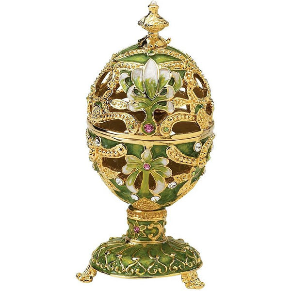 Luxury Russian Collection Elena Fabergé Style Enameled Egg