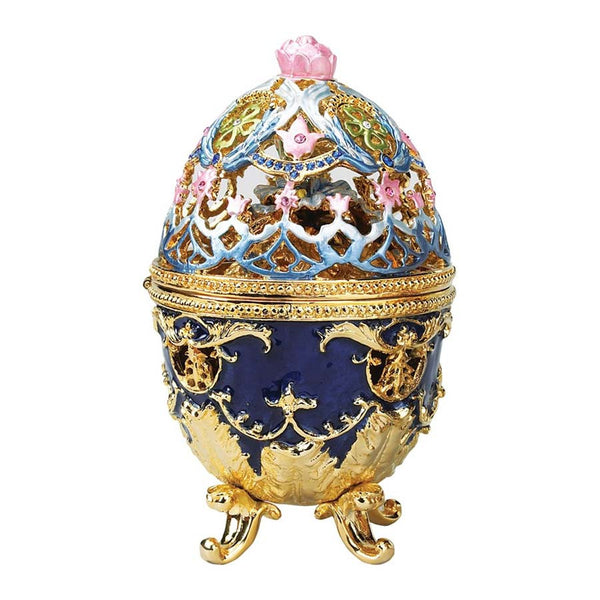 "4.5"" 17th century Classic Royal Garden Faberge-style Collectible Enameled Egg..."