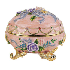 "3"" Royal Russian Renaissance Faberge-Style Enameled Eggs"