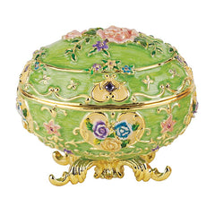 "3"" Russian Royal Renaissance Faberge-Style Enameled Eggs"