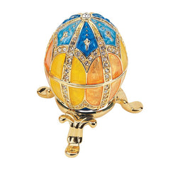 "2.5"" Collectible Grand Duchess Collection Faberge-style Enameled Eggs"
