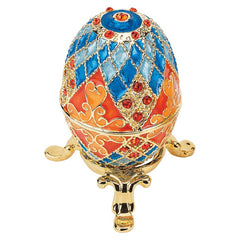 Collectible Grand Duchess Faberge-style Enameled Eggs