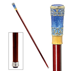 The Imperial Collection: Napoleonic Faberge-Style Premium Enameled Walking Stick