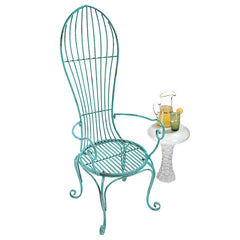 BALLOON BACK METAL GARDEN ARM CHAIR             NR