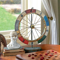 Carnival Game Wheel Of Chance Sculpture - Americana Statue