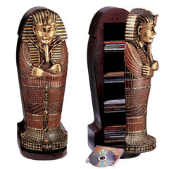 "27"" Classic Egyptian Statue King Tut Tutankhamen Sculpture Statue Cd Cabinet ..."