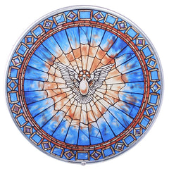 Christian Holy Spirit Dove Round Stained Tiffany Wall Window Inpired (1895) b...