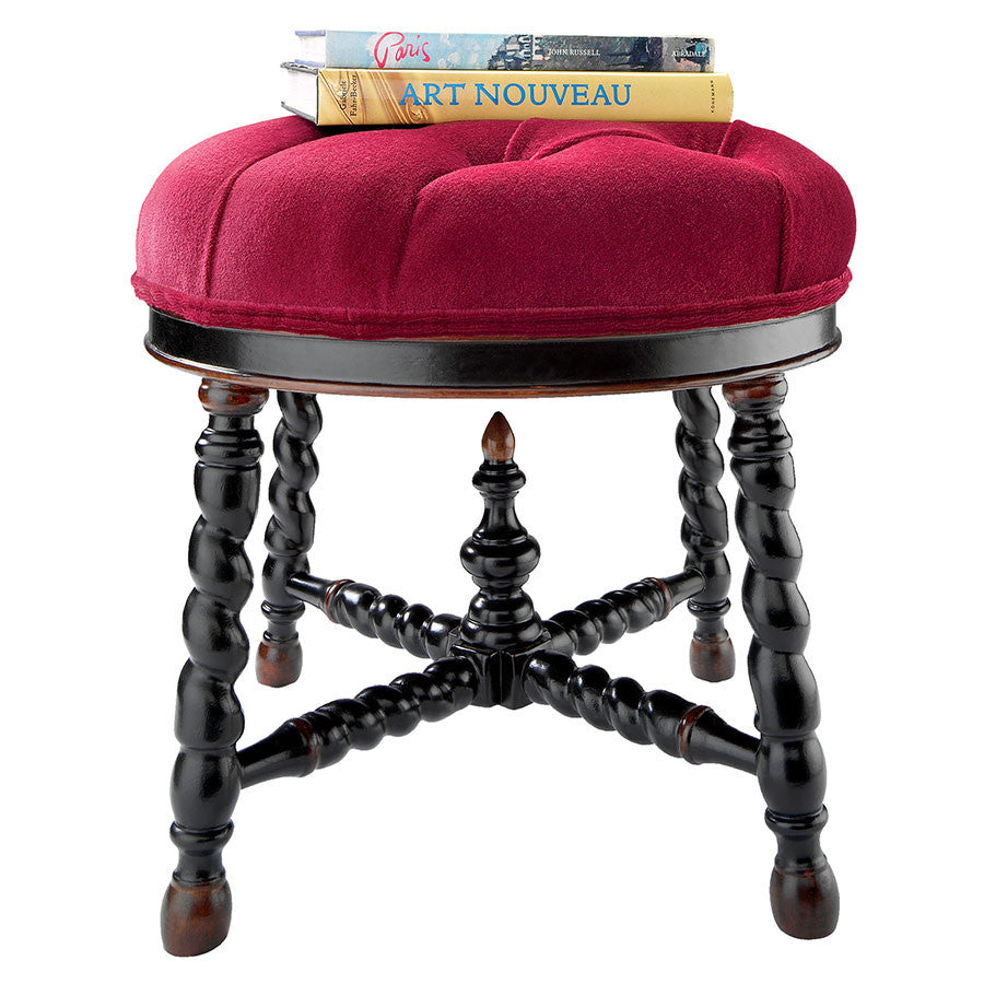 Miraculous Brittany Round Tufted Ottoman Andrewgaddart Wooden Chair Designs For Living Room Andrewgaddartcom