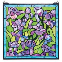 170 Individually Hand-cut pieces Stained Glass Window Inspired By artist Vinc...