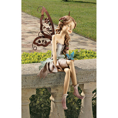 Pixie Fairy Sitting Statue Sculpture