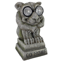 BRIGHT EYES GARGOYLE SOLAR STATUE