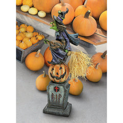 WITCHS MIDNIGHT HALLOWEEN RIDE STATUE
