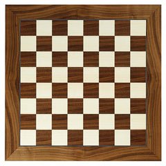 "17.25"" Wood Veneer Deluxe Chess Board"