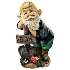"20"" Old Sage Forest Welcoming Gnome Home Garden Sculpture Statue Figurine"