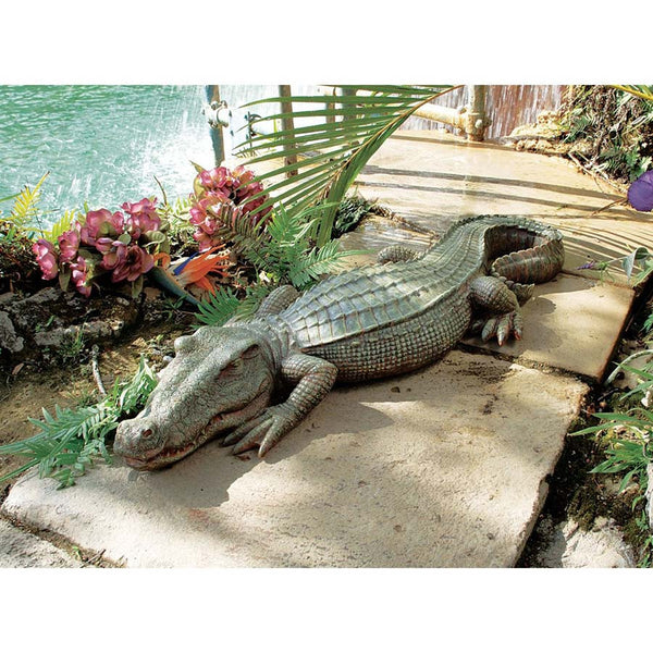 32 Ft Exotic Tropical Crocodile Alligator Home Garden Statue Sculpture (Xoticbrands)