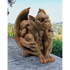 Ferocious Guardian Warrior Dragon Gargoyle Sculpture Statue Figurine