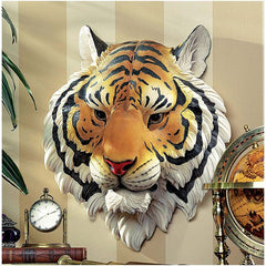 "14.5"" Wildlife Tiger Wall Sculpture Statue Figurine Deco"