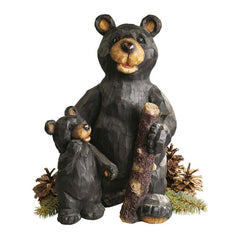 "15.5"" Black Bear Statue Figurine Sculpture"