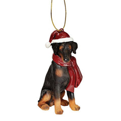 Doberman Pinscher Holiday Dog Ornament Sculpture