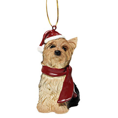 Yorkshire Terrier Holiday Dog Ornament Sculpture