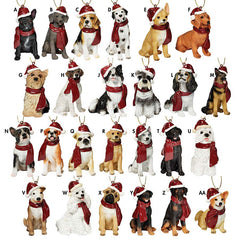 SET OF ALL 25 DOG ORNAMENTS