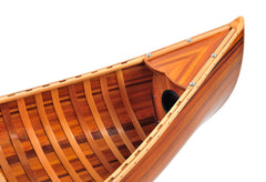 XoticBrands Decor Wooden Canoe With Ribs Matte Finish- 6'L