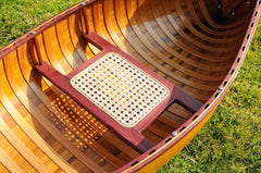 XoticBrands Decor 6 ft Wooden Canoe with ribs