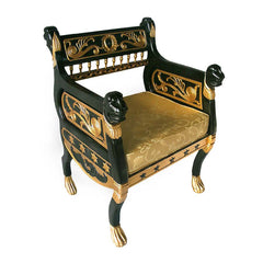 "40"" Greek Exclusive Julius Caesar's Luxury Royal Lions Hand-carved Throne Chair Jacquard Upholstery Armchair"