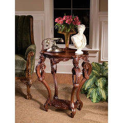 17th-century French Antique Replica Occassional Side Accent Table
