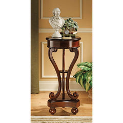 18th-century Antique Replica Hand-carved Pedestal Stand Table