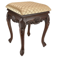 MADAME BOUVIER STOOL WALNUT FINISH