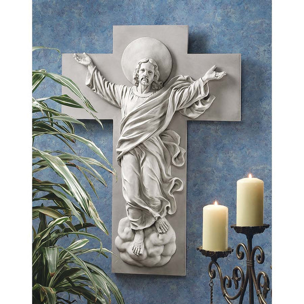"36"" Jesus Christ Ascension Christian Wall Sculpture Statue Décor"