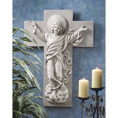 "36"" Jesus Christ Ascension Christian Wall Sculpture Statue Decor"