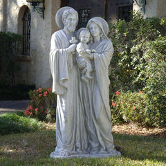 "58.5"" Religious Catholic Outdoor Garden Statue - Jesus Mary Joseph Sculpture ..."