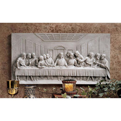 "23""w Jesus Christ and Disciple Last Supper Christian Catholic Wall Sculpture"