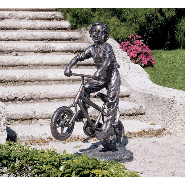OUT FOR A RIDE GARDEN SCULPTURE