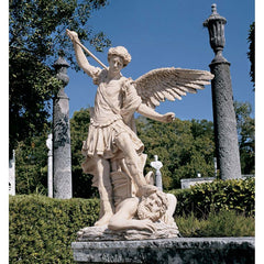 ESTATE SIZE ST MICHAEL STATUE