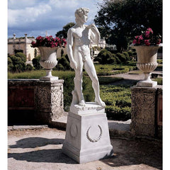 "58"" Large Classic Nude David Home Garden Statue Inspired By Michelangelo Buon..."
