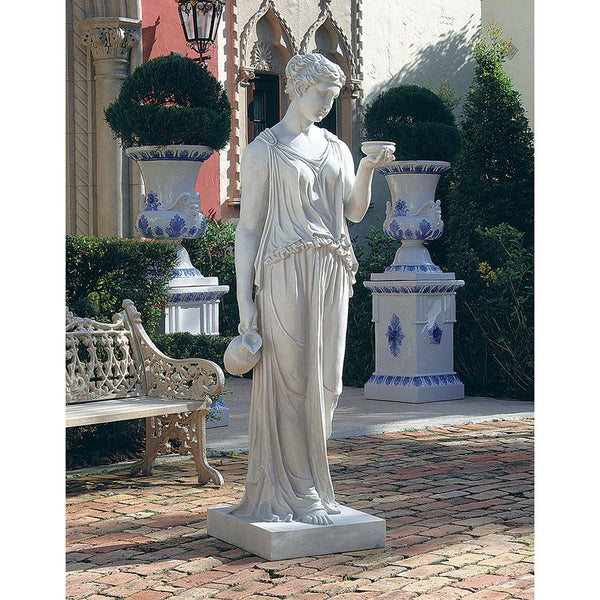 "32"" Classic European Home Garden Sculpture the Goddess of Youth Sculpture"