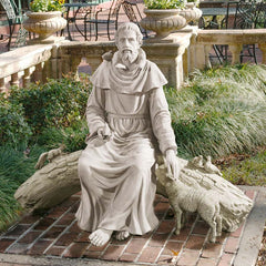 "42"" St. Francis Garden Sculpture in Nature's Sanctuary"