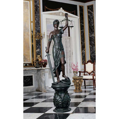 "58"" Bronze Finish Greek Goddess of Justice Statue Sculpture Figurine"