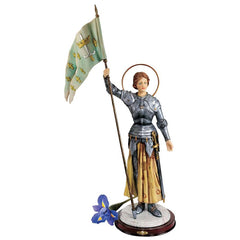"23"" Joan Patroness of French Soldiers Sculpture Statue Figurine"