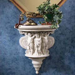 "23"" Classic Italian Antique Replica Cherubs Statue Sculpture Figurine Architectural Wall Console (Xoticbrands)"