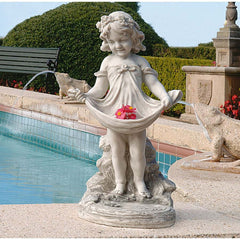 "20"" Cute Female Child Home Garden Sculpture Statue (Xoticbrands)"