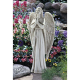 "33"" Religious Christian Spiritual Praying Angel Home Garden Statue Sculpture"